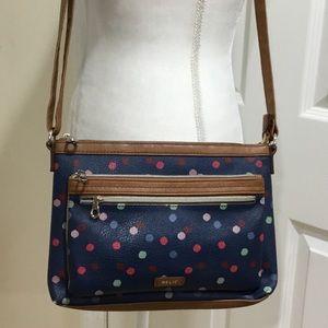 Relic Blue Polka-dot Crossbody Handbag